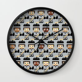 Super cute sports stars - Ice Hockey Black and Grey Wall Clock