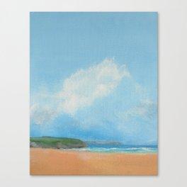 Art print - Beach and sky Canvas Print