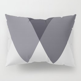 Sawtooth Blue Grey Pillow Sham