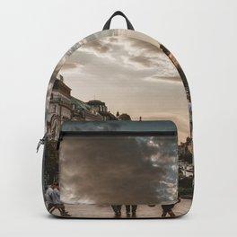 Wenceslas Square in Prague (Czech Republic) Backpack
