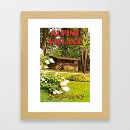 Vintage Cabin Postcard Framed Art Print