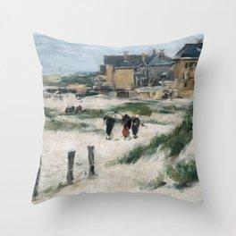 Eugène Boudin - The Inlet at Berck (Pas-de-Calais) Throw Pillow