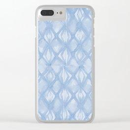 Braided Diamond Sky Blue on Lunar Gray Clear iPhone Case