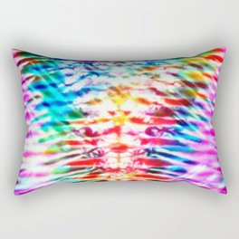 Crumpled Rainbow V Tie Dye Rectangular Pillow