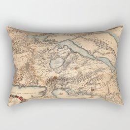 Map Of Greece 1630 Rectangular Pillow