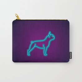 NEON FRENCH BULLDOG DOG Carry-All Pouch