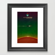 Mars United In Flight Framed Art Print