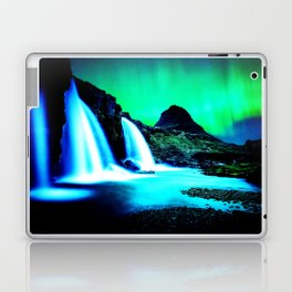 Aurora Borealis Waterfall Vibrant Laptop & iPad Skin