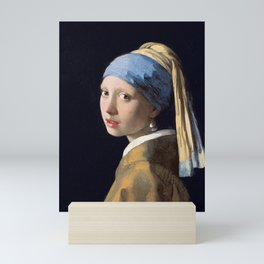 GIRL WITH A PEARL EARRING - JOHANNES VERMEER Mini Art Print
