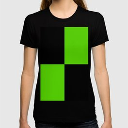 Big mosaic green black T-shirt