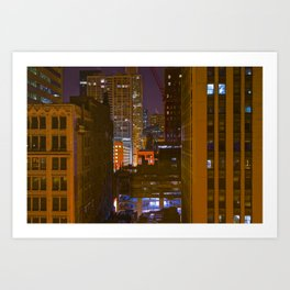 Four Color Construction Site Art Print