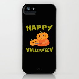 Halloween Funny Pumpkin For Halloween Motto Party iPhone Case