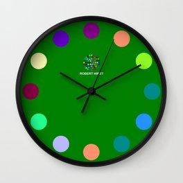 Robert Hirst Spot Clock Green Wall Clock