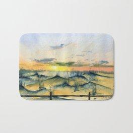 Sunset Over The Dunes Bath Mat