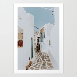 mykonos / greece Art Print