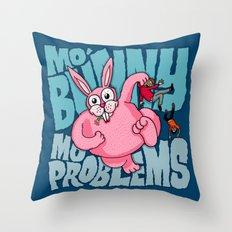 Mo Bunny... Throw Pillow