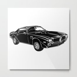 Trans Am Muscle Car Metal Print