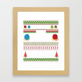 All I Want For Christmas is More Yarn Ugly Framed Art Print