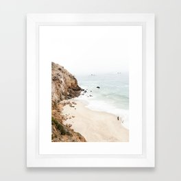 Malibu California Beach Framed Art Print