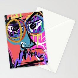 Digital self portrait by Nacho Dung Stationery Cards