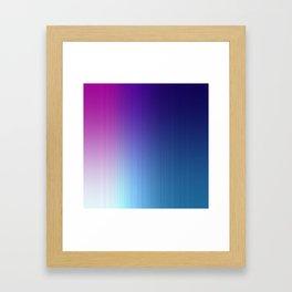 Fuchsia Blue Ombre Framed Art Print