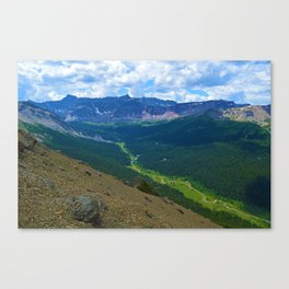 Views along the Bald Hills Hike in the Maligne Valley of Jasper National Park, Canada Canvas Print