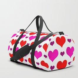Love Hearts Pattern Duffle Bag