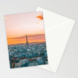 Sunset in Paris (Color) Stationery Cards