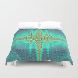 Turquoise Waves Duvet Cover