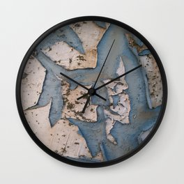 Rusty Turquoise Urban Vintage Paint Wall Clock