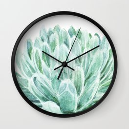Watercolor cactus print Wall Clock