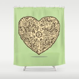 The Power of Love Shower Curtain