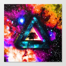 Triangle With Nebula Space Canvas Print