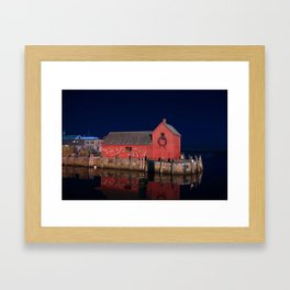 Motif #1 with Christmas Wreath Framed Art Print