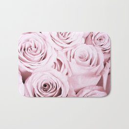 Pink Roses Flowers - Rose and flower pattern Bath Mat