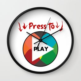 Press the button to play Wall Clock