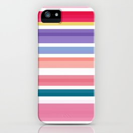 nice stripes pink iPhone Case