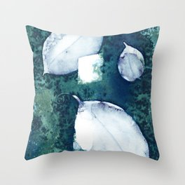 3 Leaves Throw Pillow