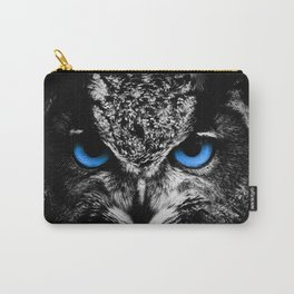 Owl Blue Eyes Carry-All Pouch