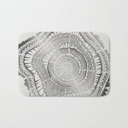 Growth Rings – 65 Years – Silver Bath Mat