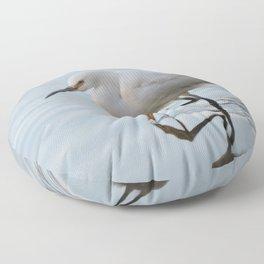 Snowy Egret High Stepping Floor Pillow