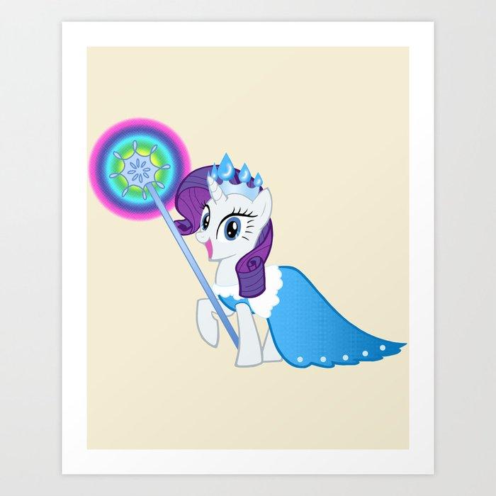 Queen Rarity Frostine Art Print