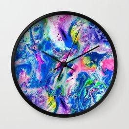 Bathbomb, fluid art, psychedelic art, trippy, psytrance, lsd, acid Wall Clock