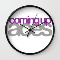 asexual Wall Clocks featuring coming up aces by Brizy Eckert