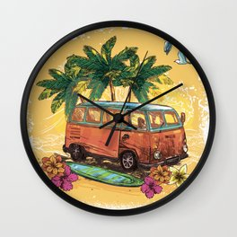 Surfing life Wall Clock