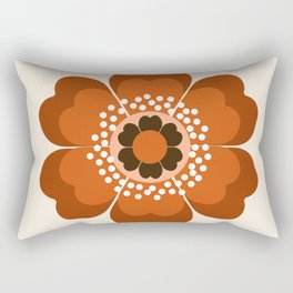 Coolie - retro flower 70s vibes minimalist floral 1970's colorful decor Rectangular Pillow
