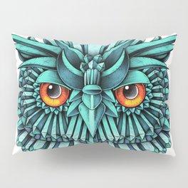 Crystal Owl Blue Pillow Sham