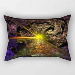Machu Picchu 3D Fractal Rectangular Pillow