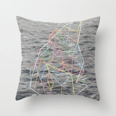 You Listen in Colors Throw Pillow