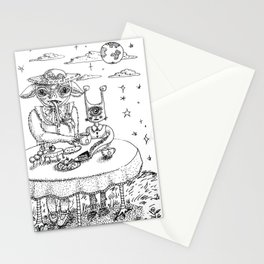 Monster Tea Party (B&W) Stationery Cards